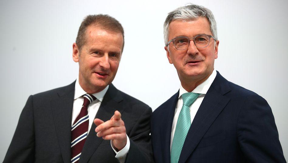 Herbert Diess (l.) und Rupert Stadler
