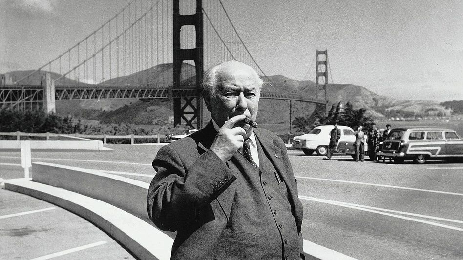 Staatsoberhaupt Heuss 1958 in San Francisco:Mit Zigarren versorgt