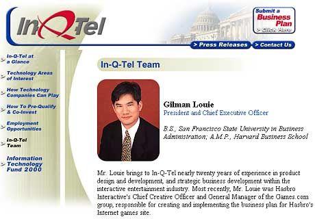 Gilman Louie, Ex-Spieleentwickler: Im Logo seiner Firma prangt rechts das Capitol - symbolträchtige Nähe zum Staat