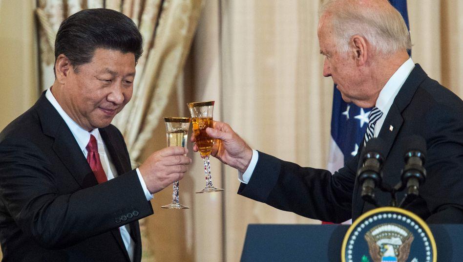 Archivfoto von einem Treffen zwischen Xi und Biden im Jahr 2015
