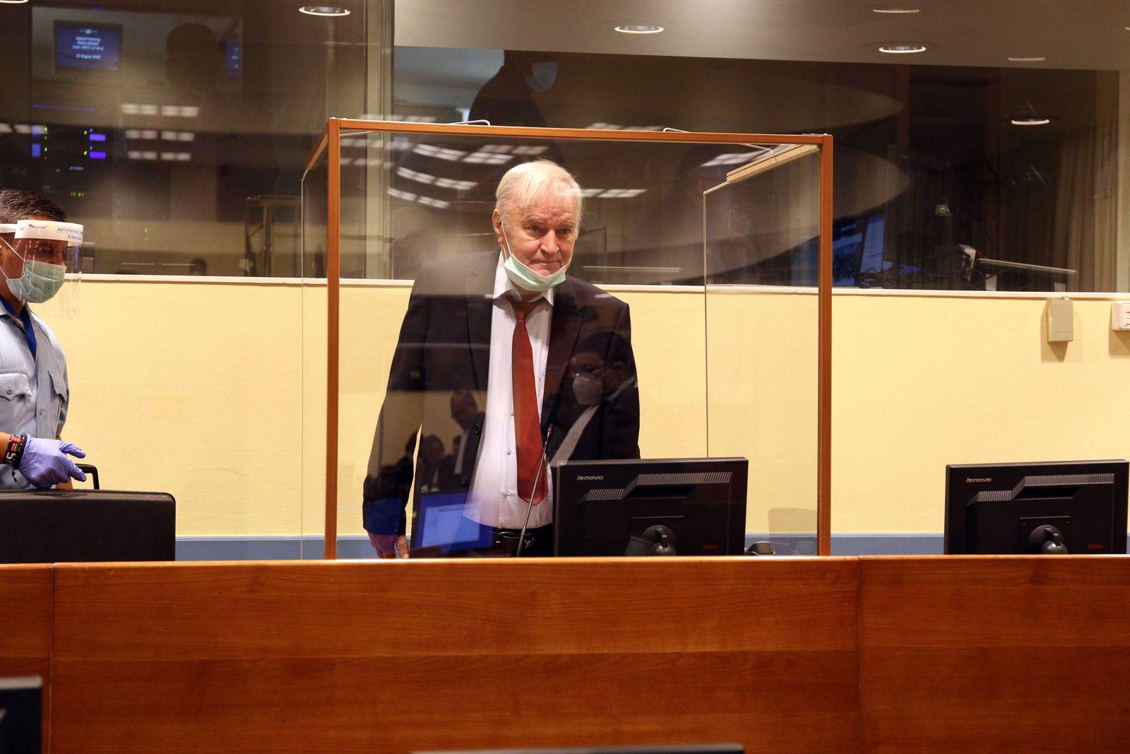 Ratko Mladic appeals before UN tribunal, Den Haag, Netherlands - 25 Aug 2020