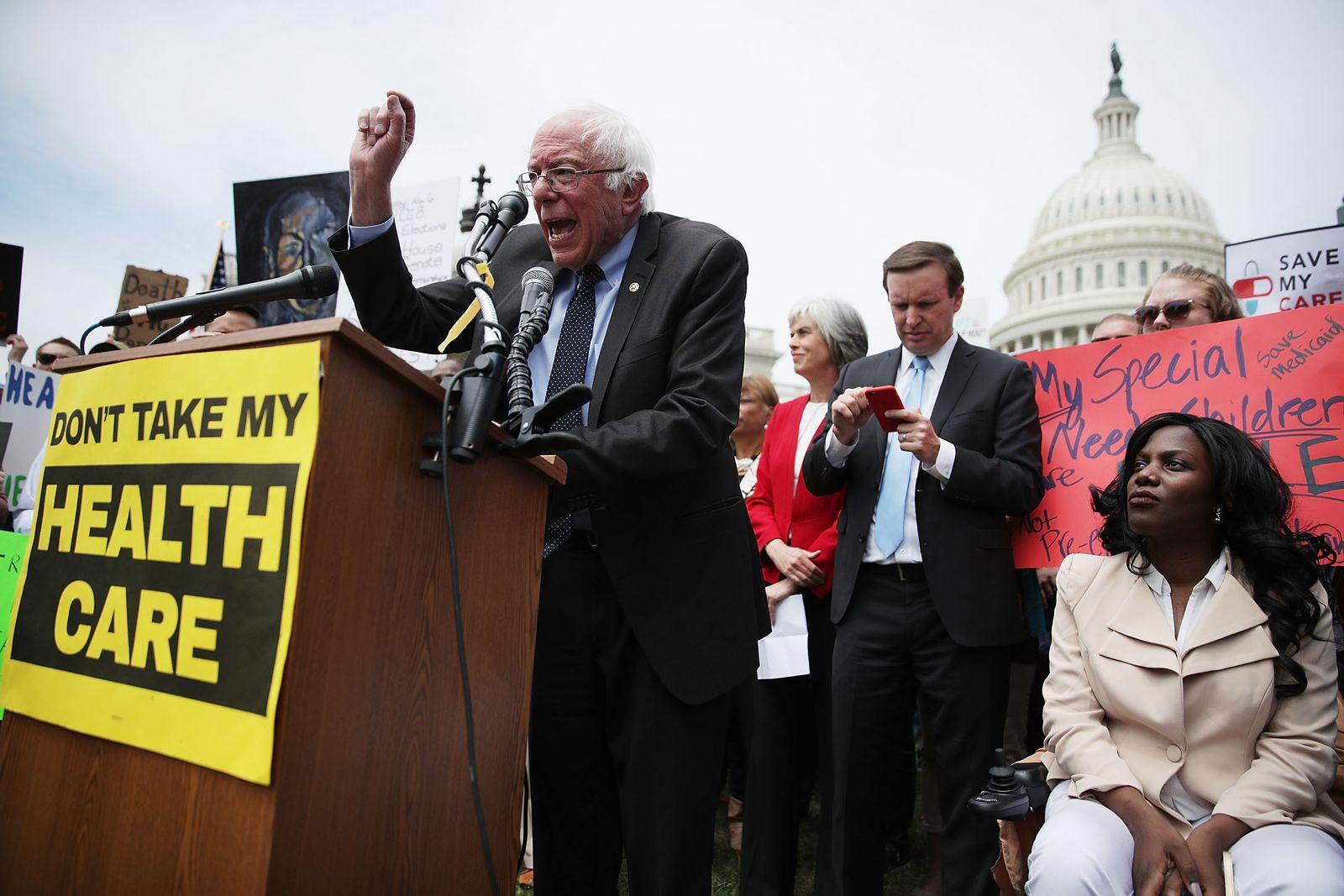 Bernie Sanders Kundgebung Washington Gesundheitsreform