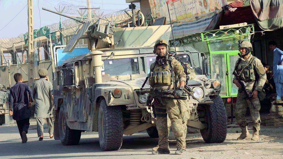 Afghan security forces in Kunduz, Afghanistan in October 2016