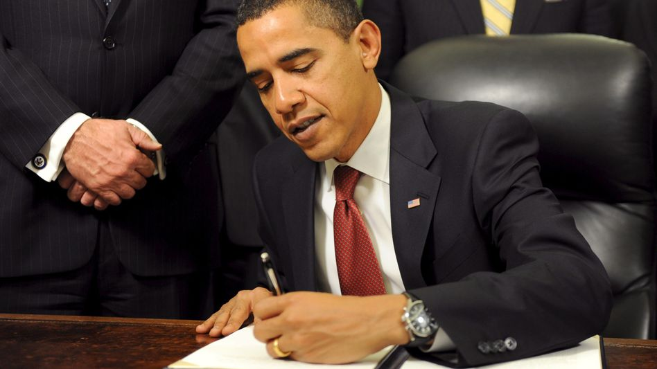 Ehemaliger US-Präsident Barack Obama, Linkshänder