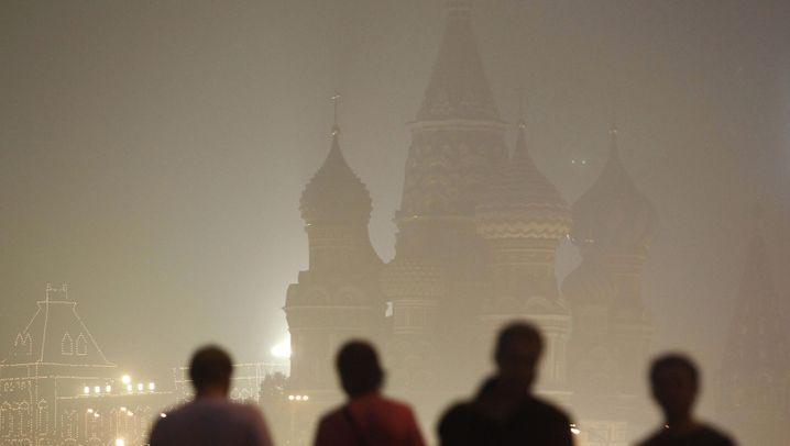 Waldbrände in Russland: Eine Stadt versinkt im Rauch