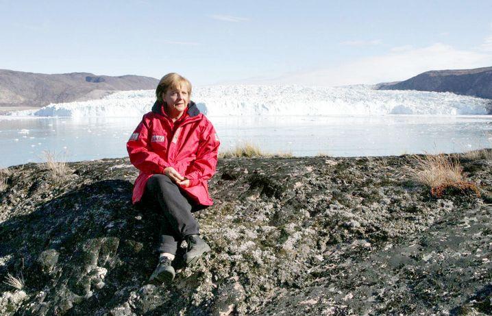 Bundeskanzlerin Angela Merkel 2007 in Grönland