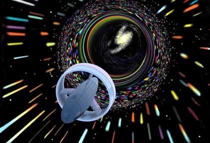 Hypothetisches Raumschiff mit Induktionsring für negative Energie: Traum vom stabilen Wurmloch
