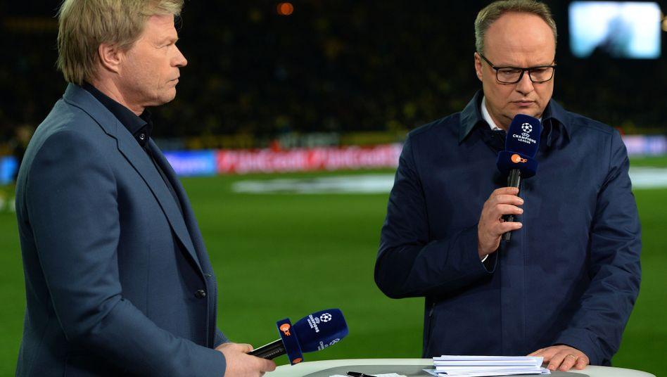ZDF-Duo Kahn (l.), Welke: Konzentration auf die Top-Vereine