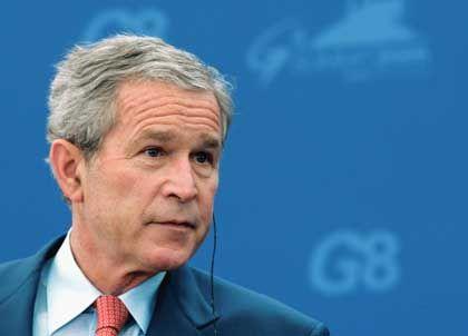 Grüner Vorstoß ins Blaue hinein: US-Präsident George W. Bush