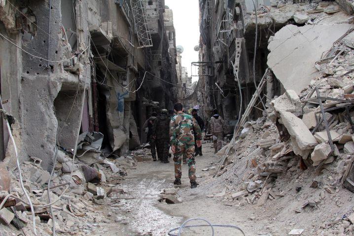 Jarmuk in Damaskus, einst Heimat von Ahmad U: Hier hatte seine Familie ein großes Haus