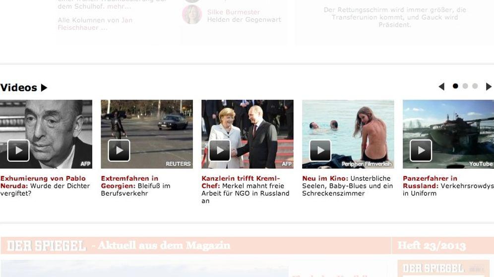 Neue Startseite: Übersichtlich, modern, multimedial
