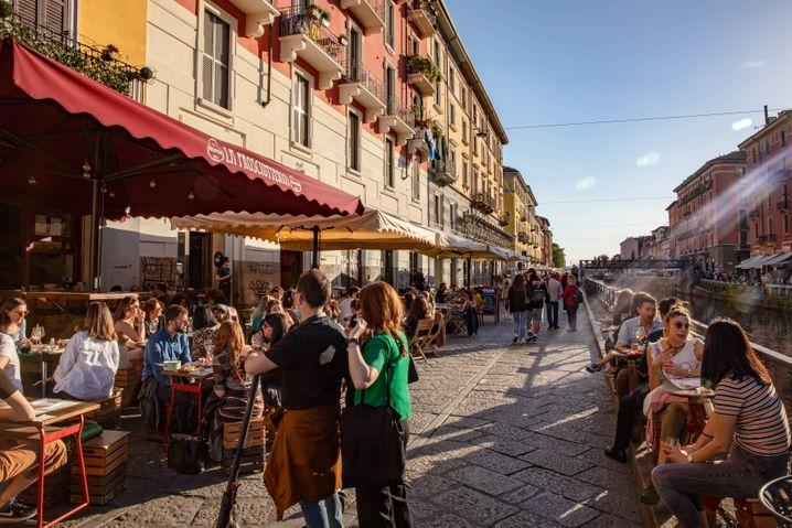 Außengstronomie in Mailand
