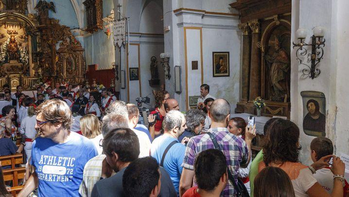 Jesus-Fresko: Besucherboom in Borja