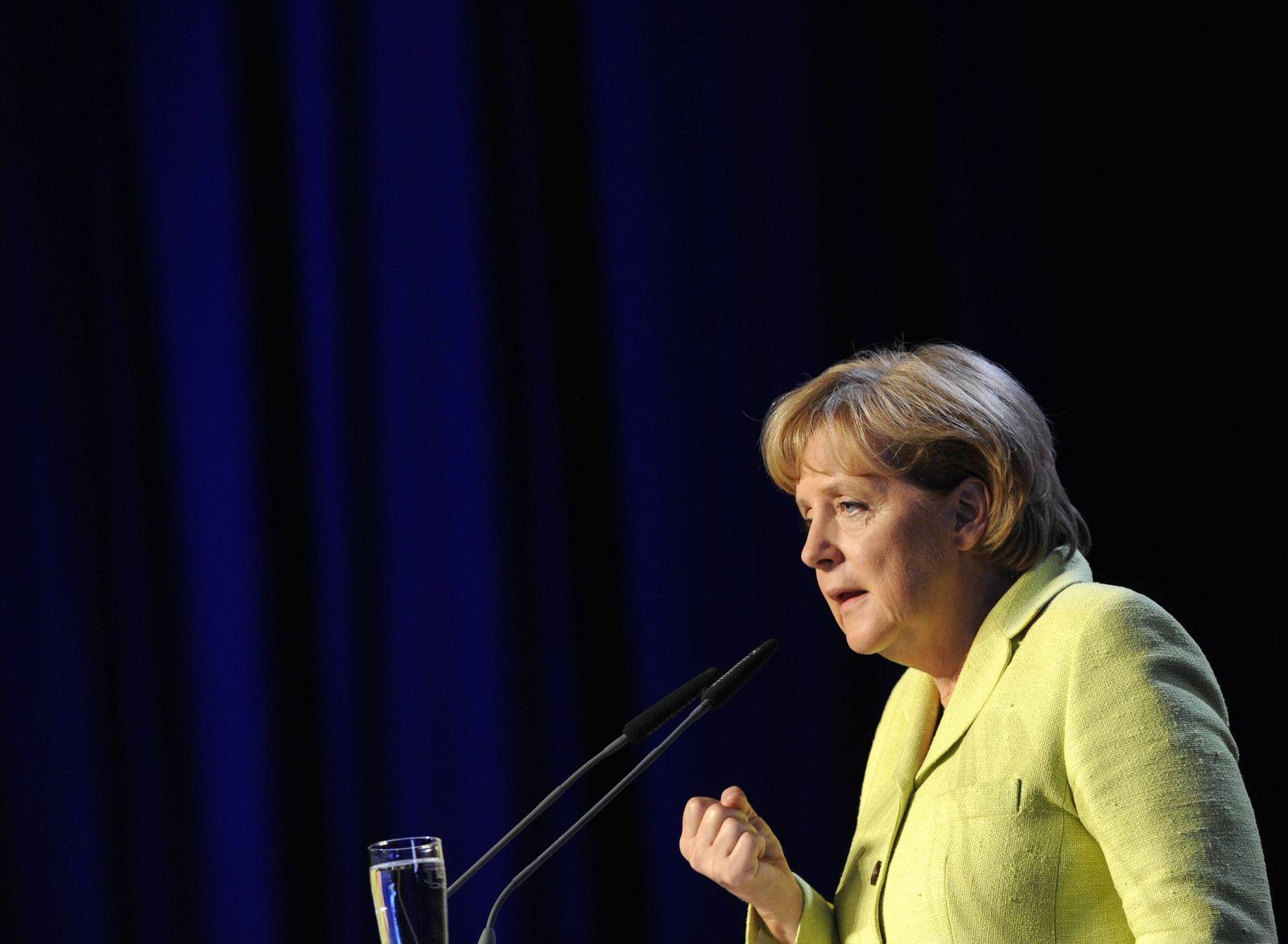 NICHT VERWENDEN CDU-Wahlkampfveranstaltung mit BK Merkel und MP Carsten