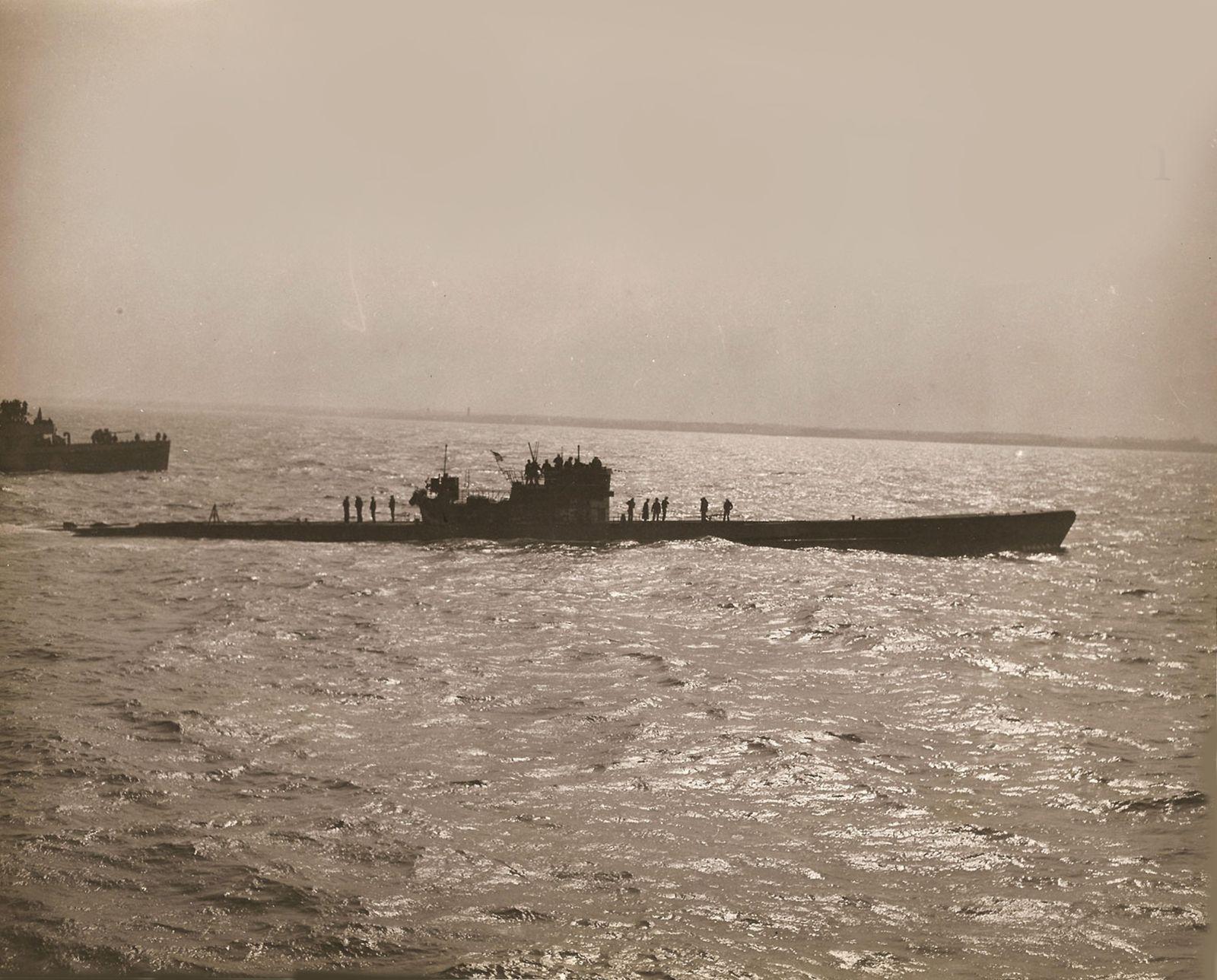 Captured German U-234 U-Boat In Portsmouth, New Hampshire, May 1945