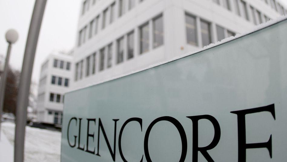 Glencore-Logo: Der Rohstoffgigant will mit dem Bergbauriesen Xstrata fusionieren