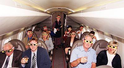 Mit SoFi-Brillen in der Concorde - nicht das reine Vergnügen