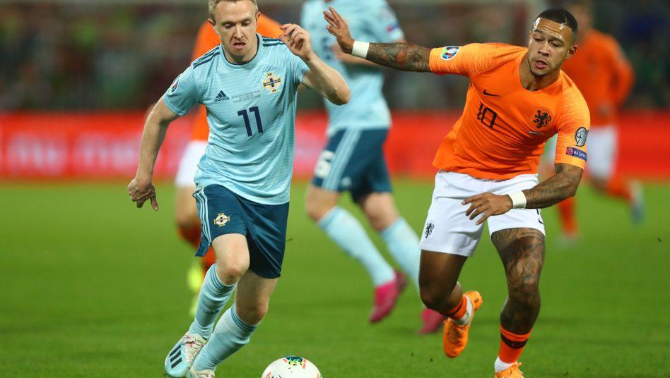 Eine packende Partie lieferten sich die Niederlande und Nordirland