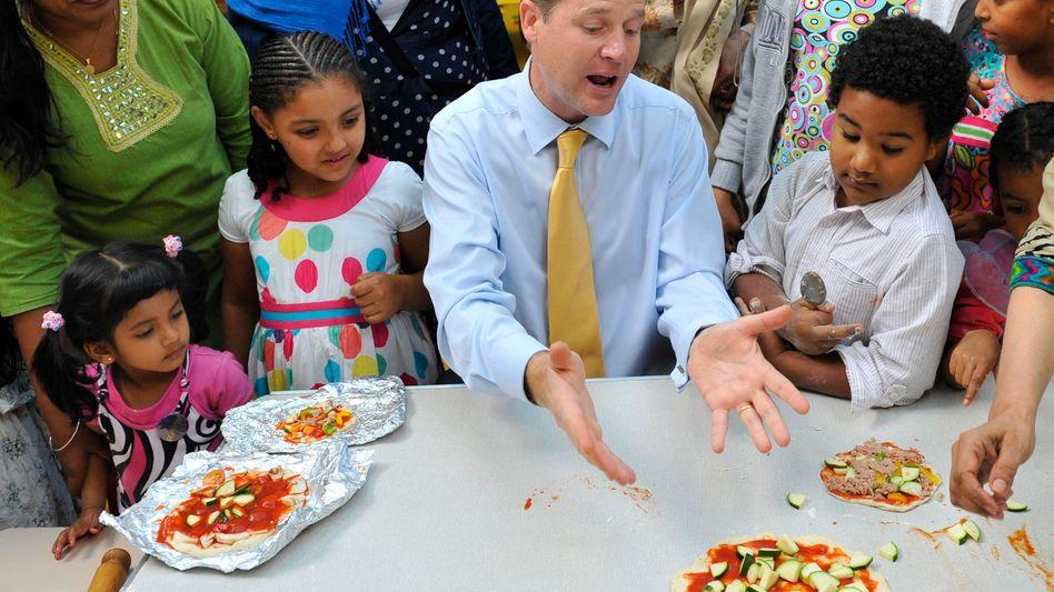 """Nick Clegg mit Londoner Kindern: """"Ich bin kein Sandsack, ich habe Gefühle"""""""