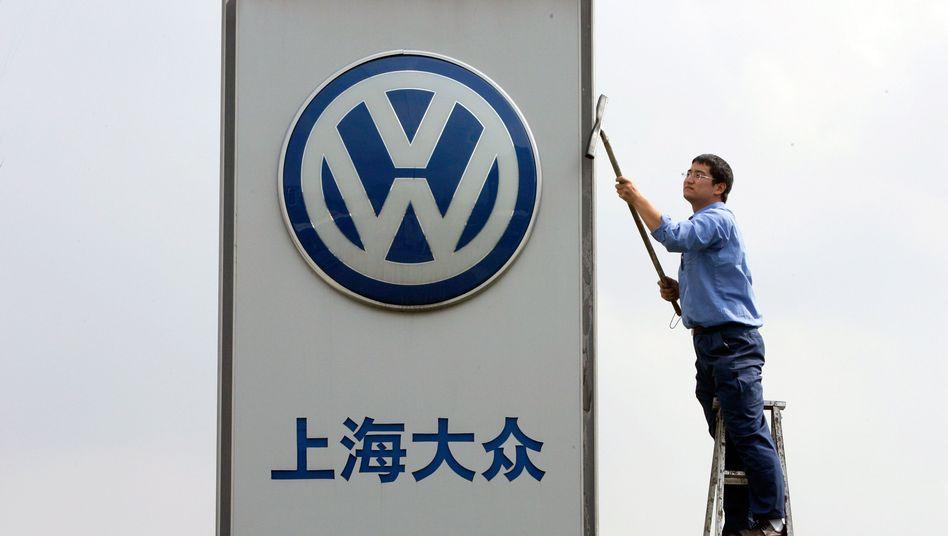 VW-Autohaus in China: 2,8 Millionen verkaufte Autos im Jahr 2012