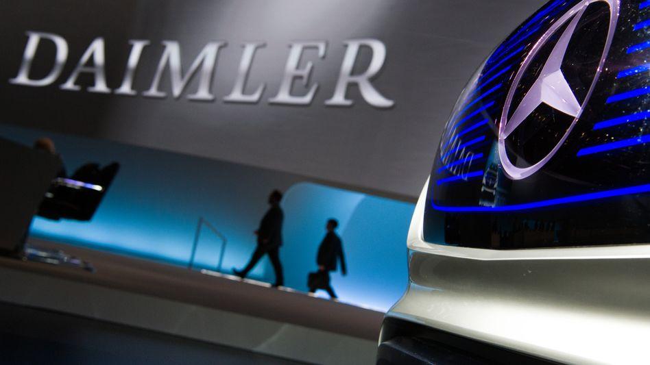 Daimler-Logo in Berlin