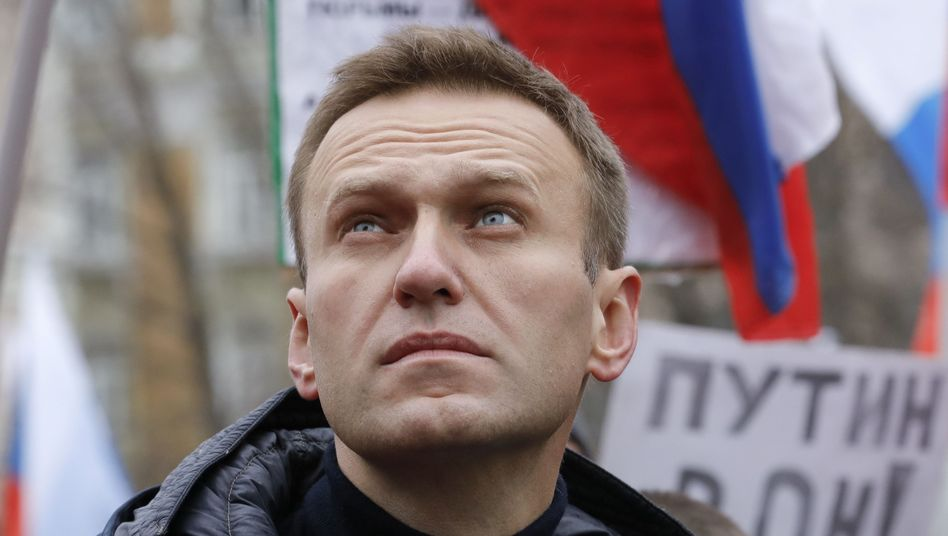 Alexej Nawalny vor seiner Festnahme und Erkrankung in Moskau