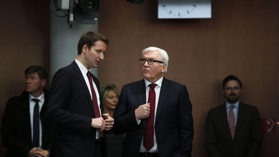 Patrick Ernst Sensburg und Frank-Walter Steinmeier