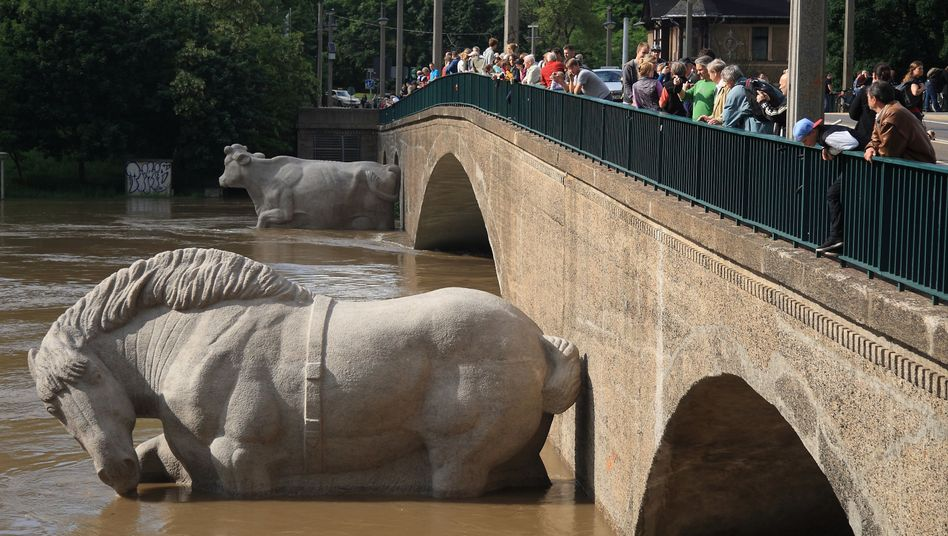 Can recent flooding in eastern Germany be attributed to climate change?