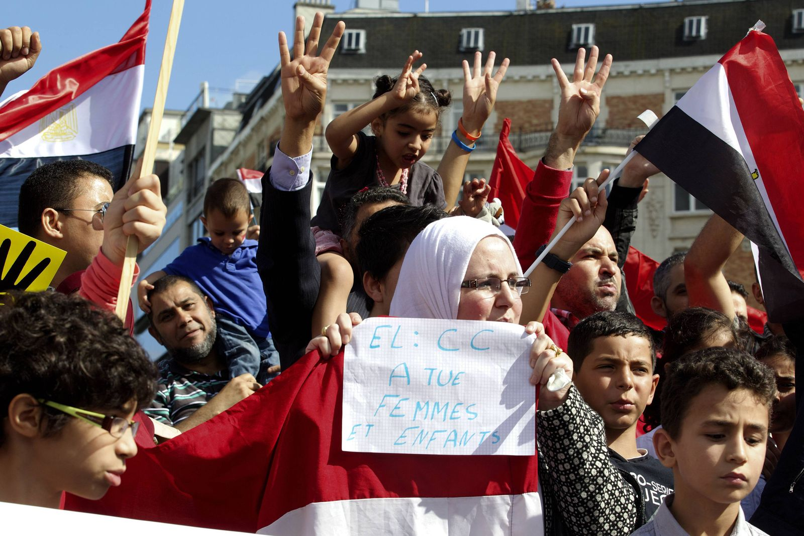 BELGIUM-EGYPT-UNREST-POLITICS-DEMO