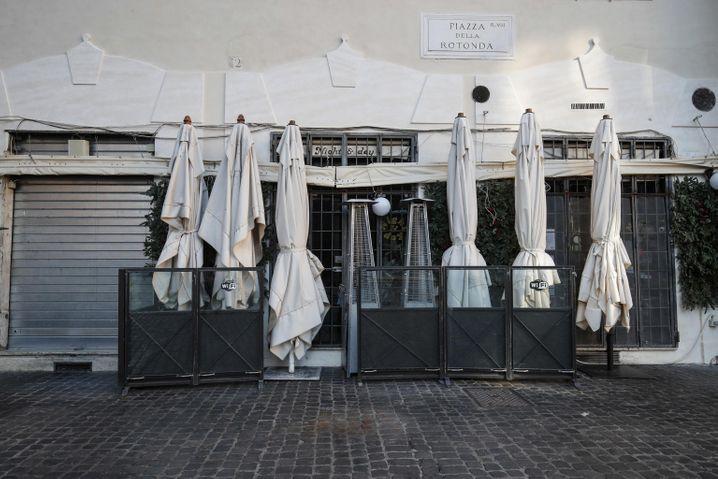 Restaurant in Rom während des Neujahrslockdowns: Mehr als 200 Milliarden Euro soll Italien in den kommenden Jahren aus dem Corona-Sondertopf erhalten