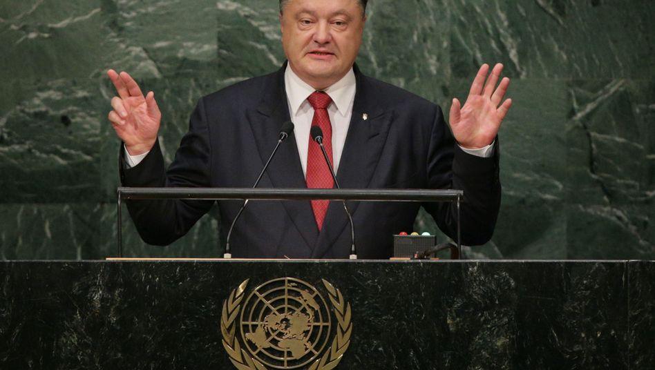 """Poroschenko vor der Uno-Vollversammlung: """"Das ist eine Aggression"""""""