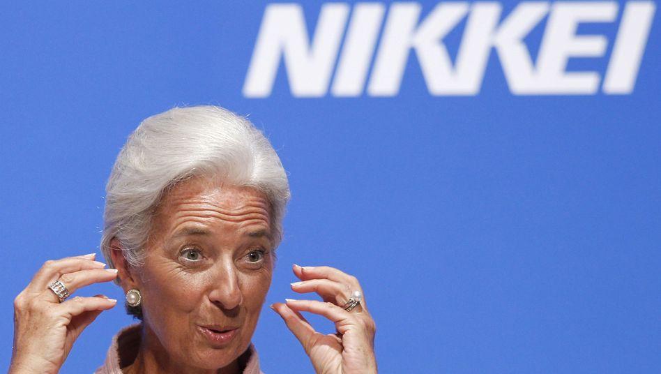 """IWF-Chefin Lagarde: """"Ursachen werden weiter nicht angegangen"""""""