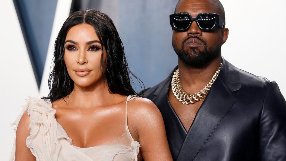 Kim Kardashian mit Ehemann Kanye West: