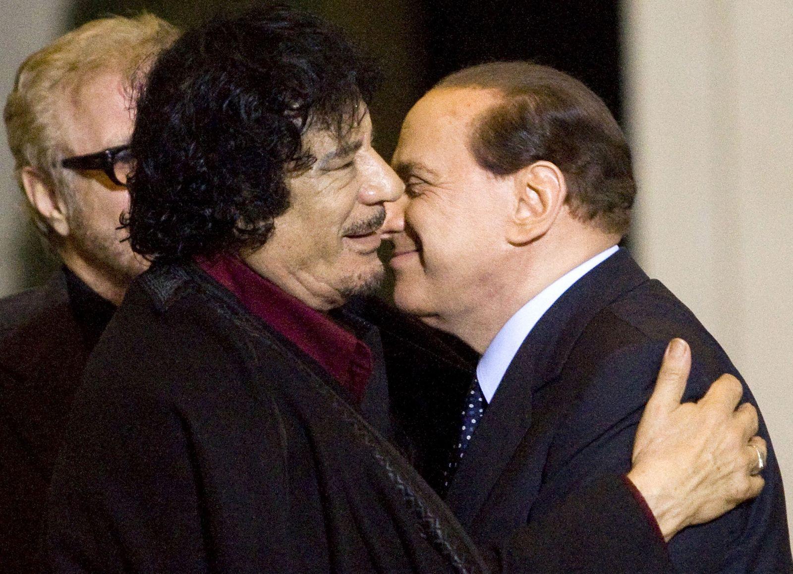 ITALY-LIBYA/BERLUSCONI gaddafi