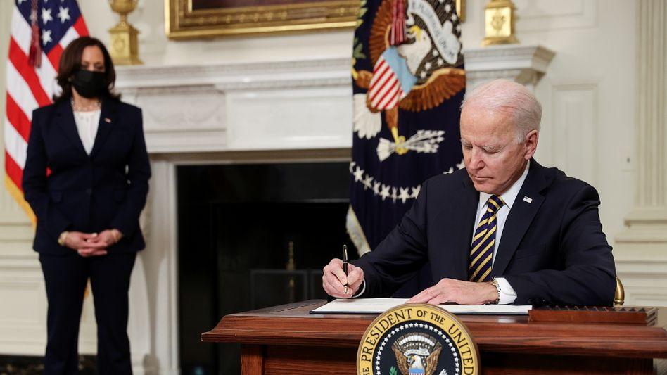 Joe Biden und Kamala Harris im Weißen Haus: Abkehr von der Ära Trump