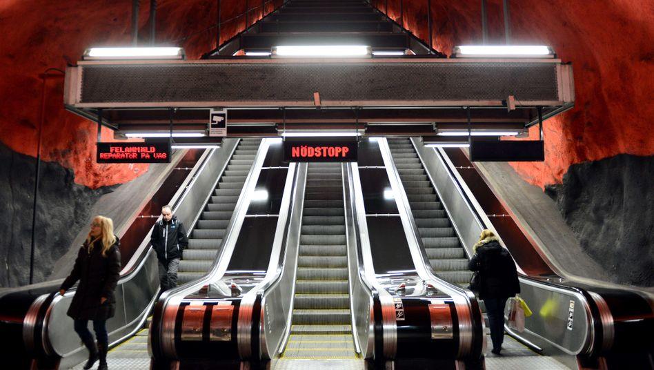 U-Bahn-Station in Stockholm: Ohne Ticket - aus Prinzip