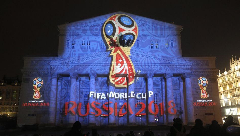 Das Emblem der Fußball-Weltmeisterschaft 2018