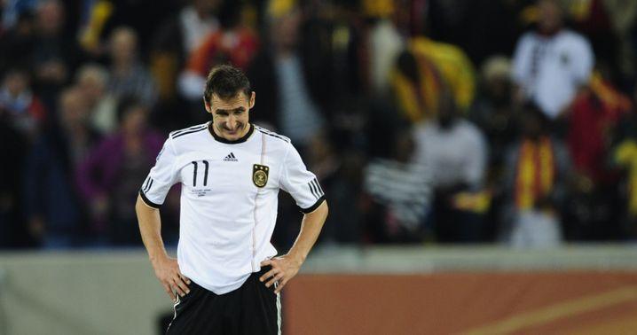 Klose (im Spanien-Spiel): Verletzung zu schwer