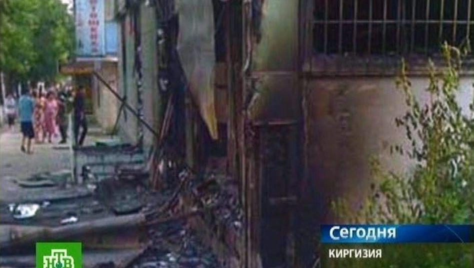 Osch am 11. Juni (Aufnahme aus russischem Fernsehen): Tötungen und Plünderungen