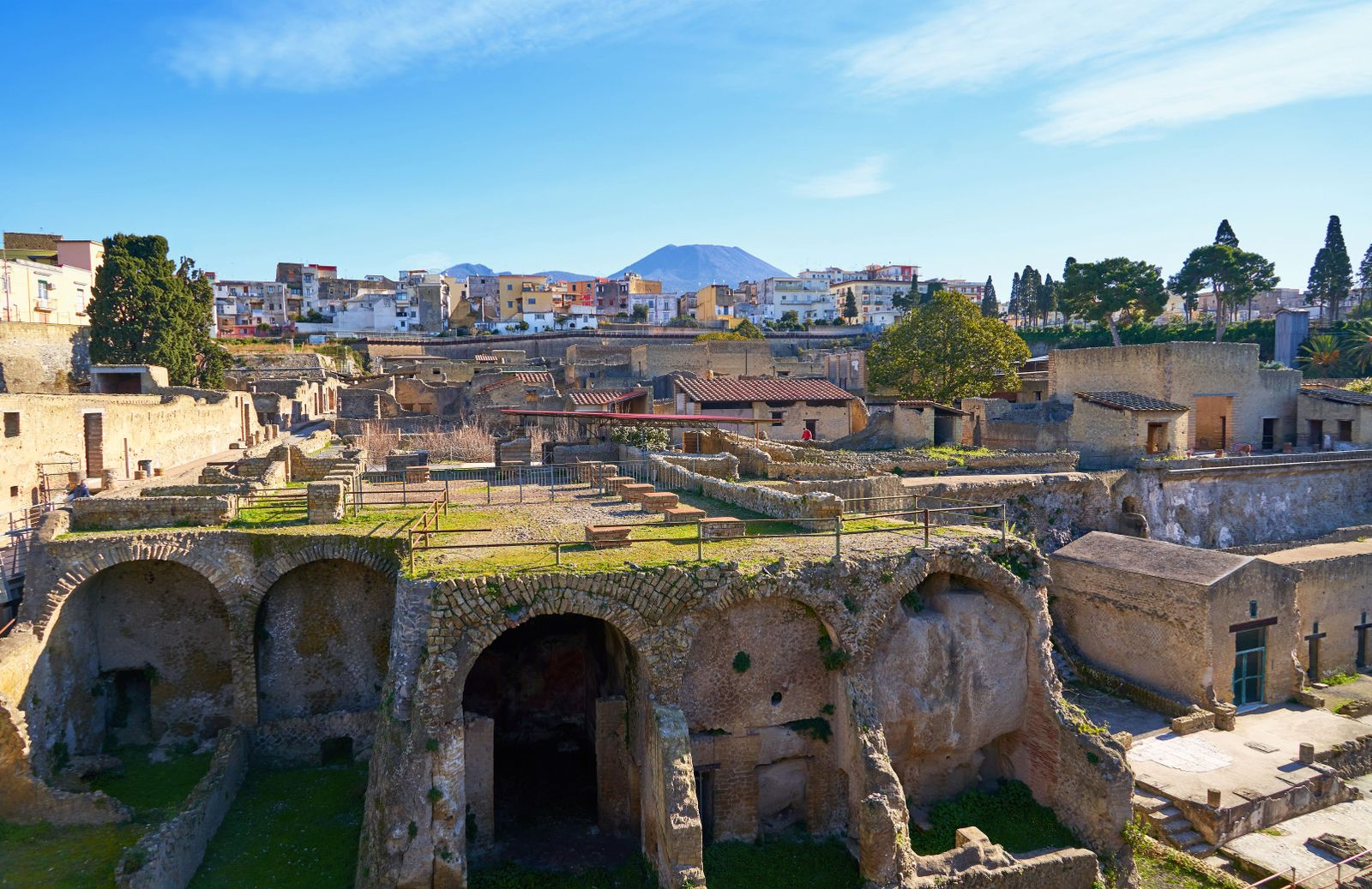 Archeological Site of Herculaneum in Naples, travel in Italy.