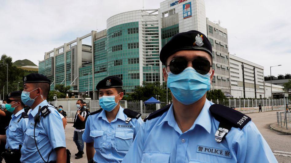 Polizisten in Hongkong: Wegen des sogenannten Sicherheitsgesetzes haben mehrere westliche Staaten ihre Auslieferungsabkommen auf Eis gelegt