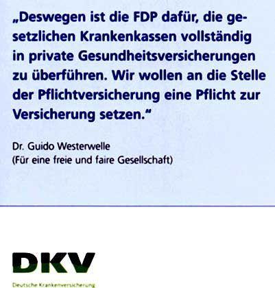 Westerwelle-Zitat: Deckungsgleiche Message