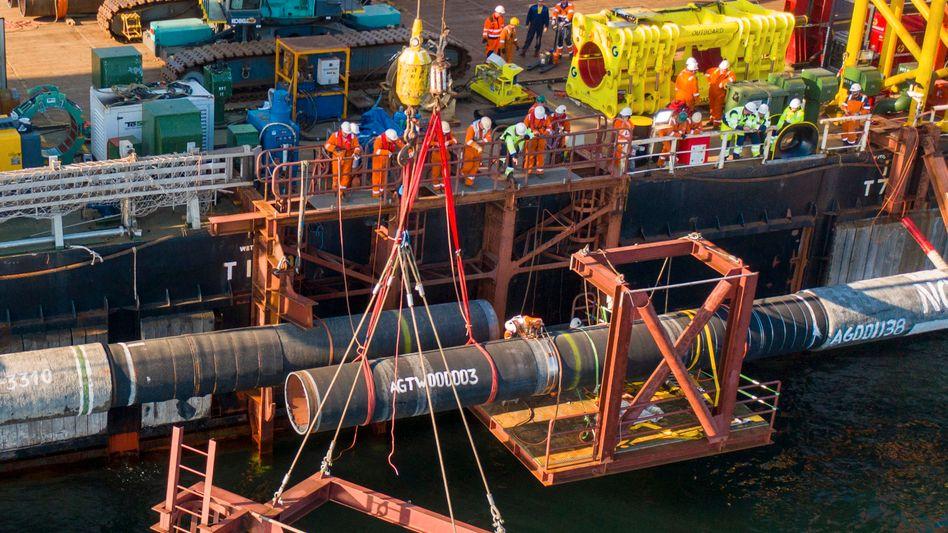 Bauteile von Nord Stream 2 (Archivbild): »Nord Stream 2 wird viel Gas liefern«