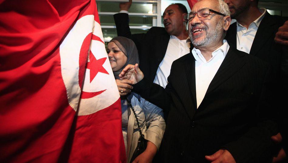 Nahda-Anführer Ghannouchi: Erdrutschsieg für die Islamisten