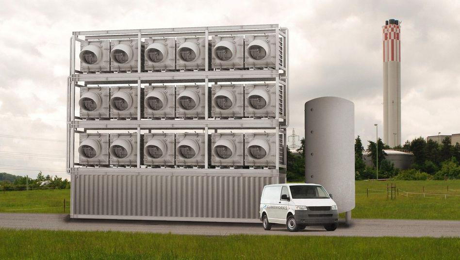Pilotanlage in der Schweiz: Der Luft 900 Tonnen Kohlendioxid im Jahr entziehen