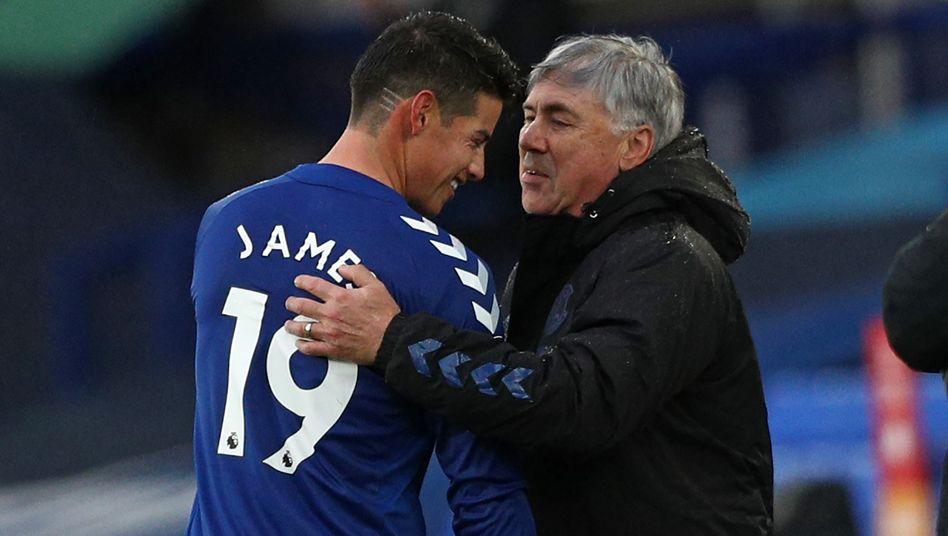 Offensivspieler James Rodríguez, Trainer Ancelotti: Erste Eindrücke sind gut