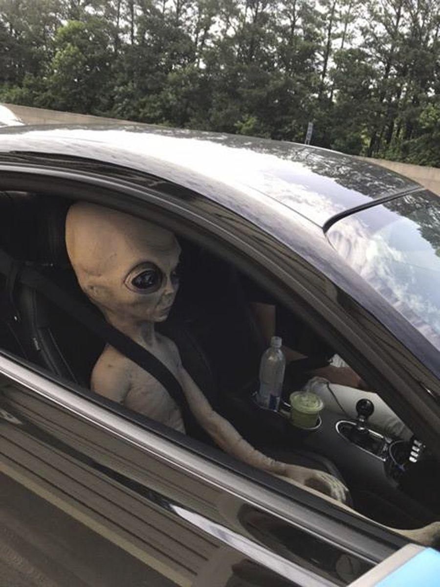 Alien im Auto