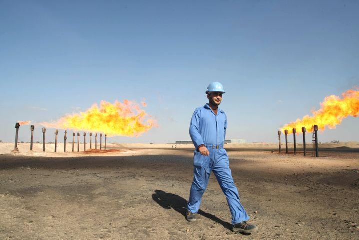 Ölfeld nahe der irakischen Stadt Basra