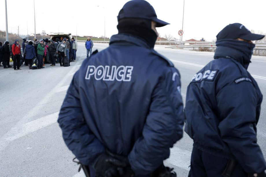 Tens of thousands of pushbacks? Masked Greek police patrol the area near the Turkish border looking for migrants.