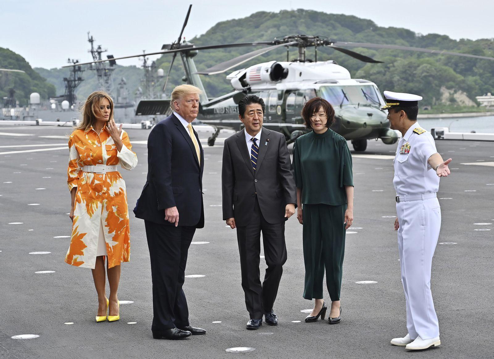 Trump/ Japan/ JS Kaga